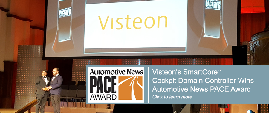 Visteon's SmartCore™ Cockpit Domain Controller Wins Automotive News PACE Award