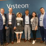 Visteon's team at the event (l-r): Mark Fosmoen, VP customer engineering, Europe; Flaviu Anderco, software engineering manager; Olga Stoica, HR manager; Jay Patel, customer engineering director, Iasmina Iuga, HR and Velizar Dimov, European software director