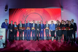 Visteon's Ivan Mihaylov (fourth from left) with other industry winners at the ACB ceremony