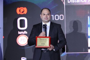 Ivan Mihaylov, operations manager at Visteon's Sofia technology center, addresses attendees at the ACB awards ceremony